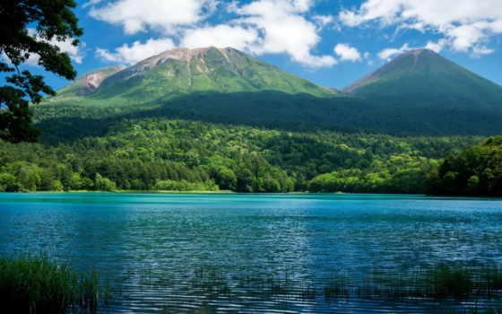 горы, природа, озеро