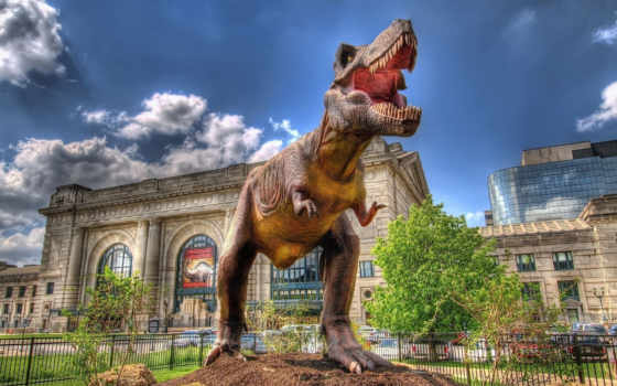 динозавры, sculpture, динозавра