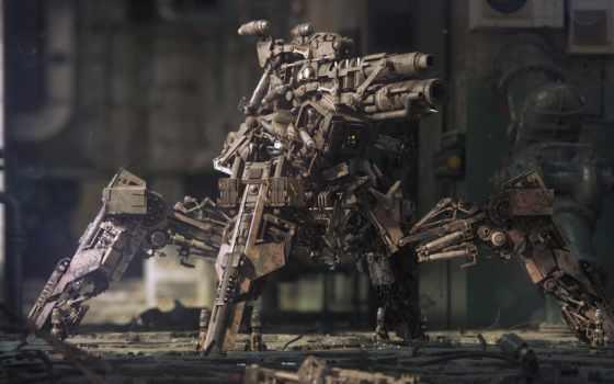 пулемет, оружие, robot, высоком, оружее, пользователи, авторы, нояб, качестве,
