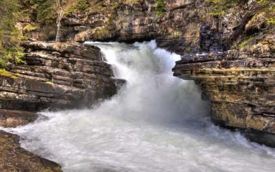 водопад, страница, природа, free, waterfalls, high, wide,