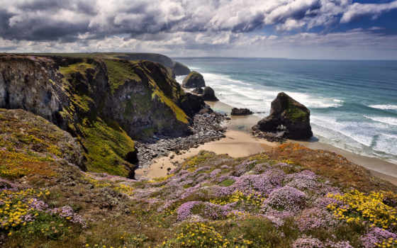 англия, cornwall, bedruthan, steps, море, celtic, великобритания, побережье, rocks,