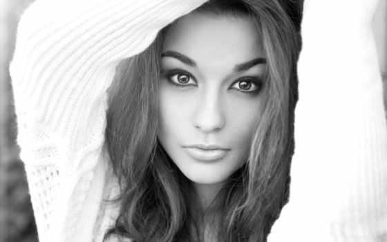чёрно, лицо, белое, девушек, белые, красивые, белая, скачат, картинки, взгляд, devushki,