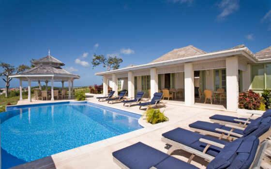 villa, home, бассейн, остров, entire, спальня, caribbean, использование