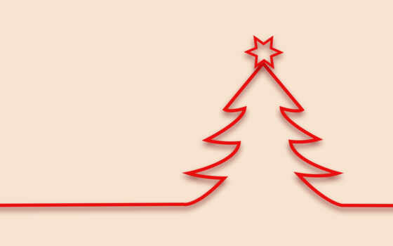 christmas, minimalist, дерево, minimalistic
