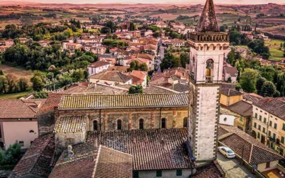 церковь, винчи, croce, санта, кроче, категории, tuscany, италия, янв, крыши, панорама, здания, times,