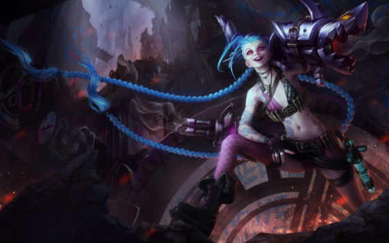 jinx, league, legends, loose, cannon, фэндомы,
