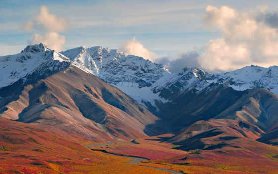 mountains, поля, para, гора, desktop, море,