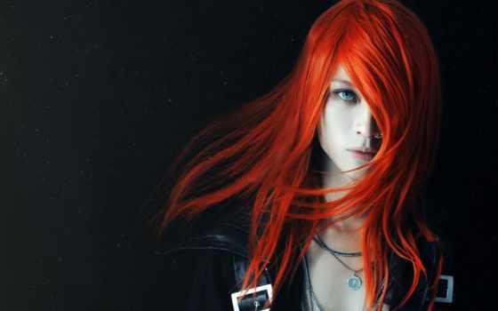 девушка, рыжие, devushki, рыжая, redhead, пирсингом, свет, голубые, носу, розы, art,