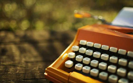 печатная, машина, день, клавиши, house,