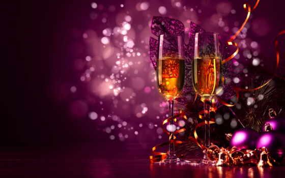 новый год, glass, шампанское, new, год, палуба, мяч, toy, happy, elochnyi