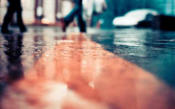 улица, robot, rainy, design