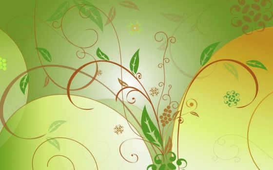 листья, зеленые