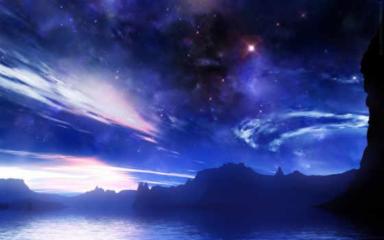 небо, облака, астрономия