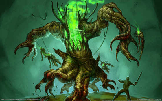 monster, дерево, fantasy