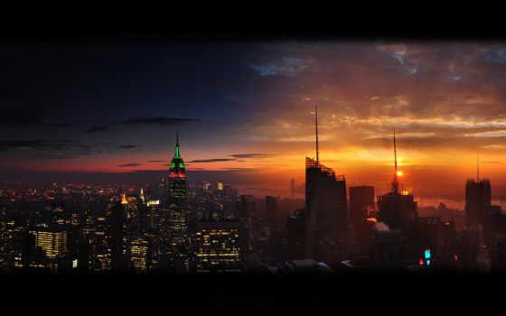 город, new, york