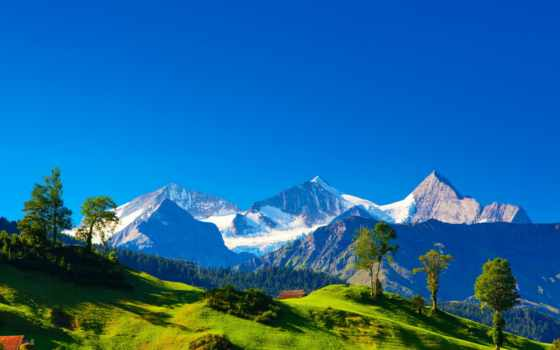 горы, альпы, холмы, swiss, заставки, вершины, швейцария, tochka, japanese,