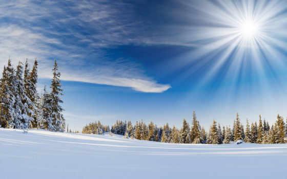 снег, winter, sun, палуба