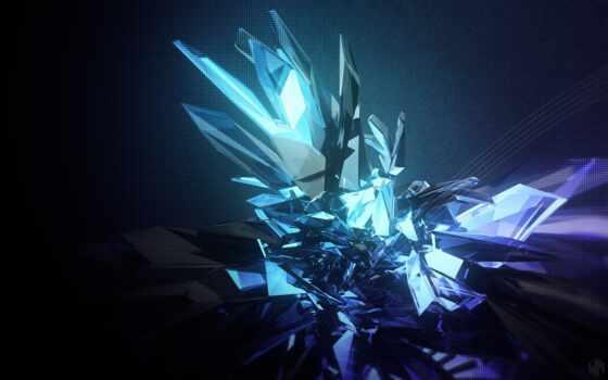 crystal, фон, абстракция, detailed, edge, elemento, fondo, pantalla