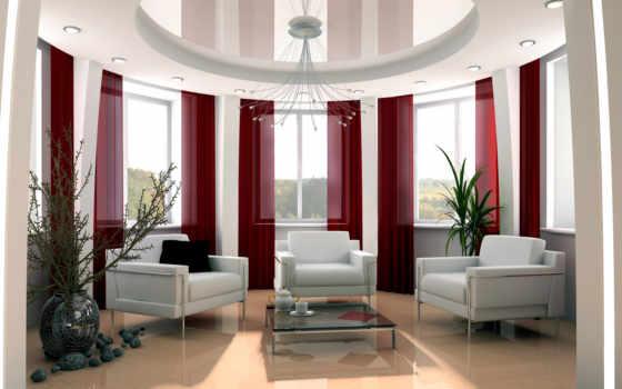 потолки, натяжные, интерьере