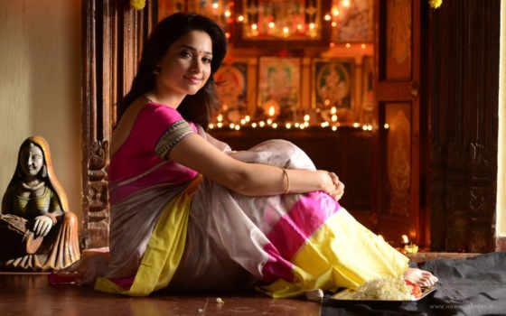 tamanna, bhatia, saree