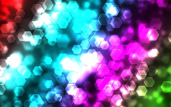 абстракция, краски, боке, свет, узоры, шестиугольники,