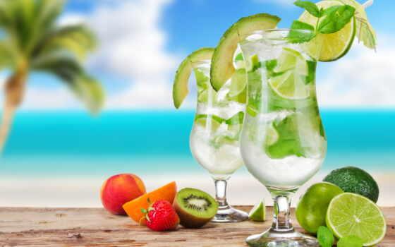 коктейль, пляж, summer, напиток