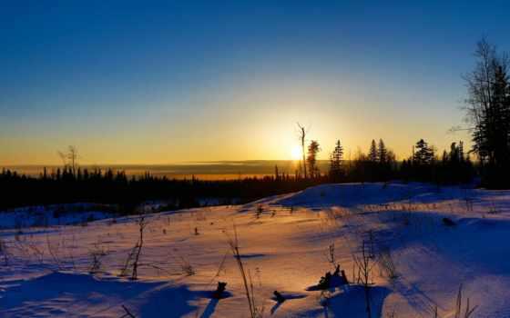 поле, winter, resolution, widescreen, качество, home, природа, небо, закат