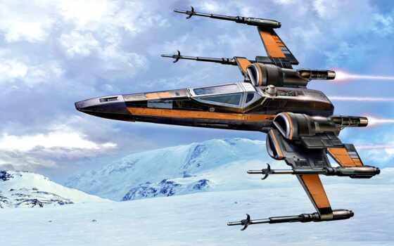 star, war, крыло, истребитель, cosmic, корабль, модель, revell, сборная