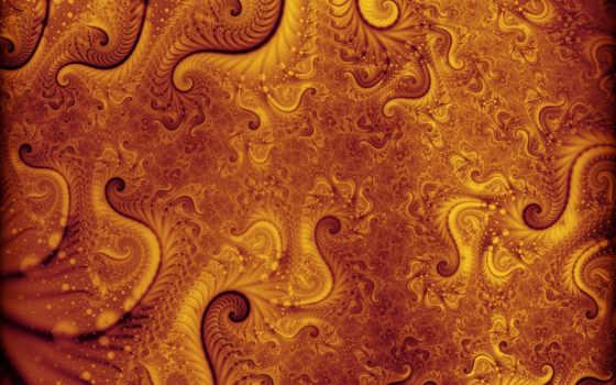 fractal, orange