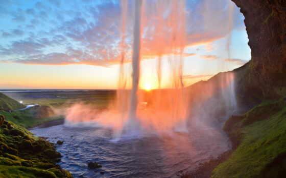 водопад, iceland