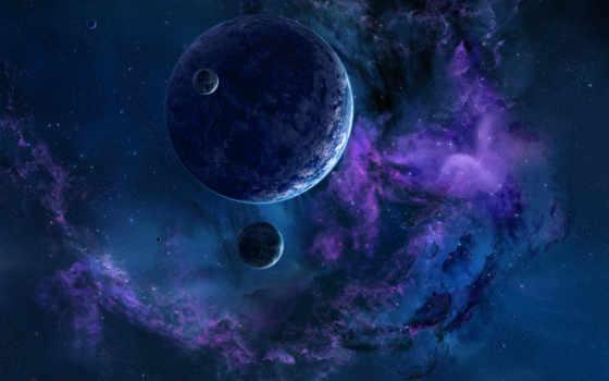 космос, звезды, туманности