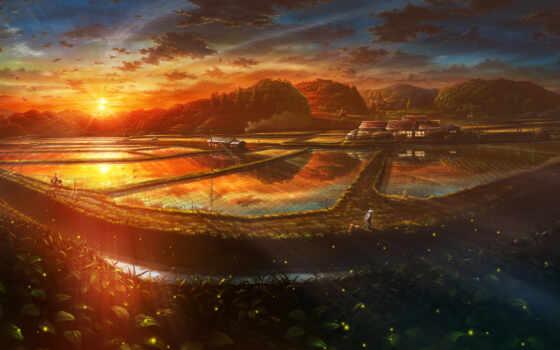 anime, landscape, пейзажи -