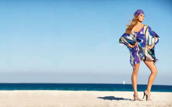 девушка, яхта, модель, blonde, одежда, песок, water, смотрит, пляж, небо, туфли,