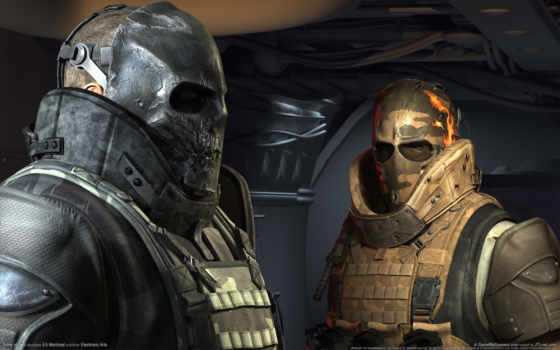 армия, два, маски