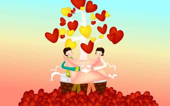 день, pair, влюбленная