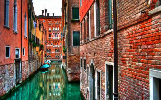 italian, стена, venezia, взгляд, italy, venice, окна, italia,