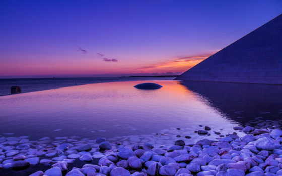 камни, рассвет, море, mac,