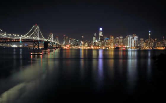 отражение, картинка, город, мост, chicago, небоскрёб