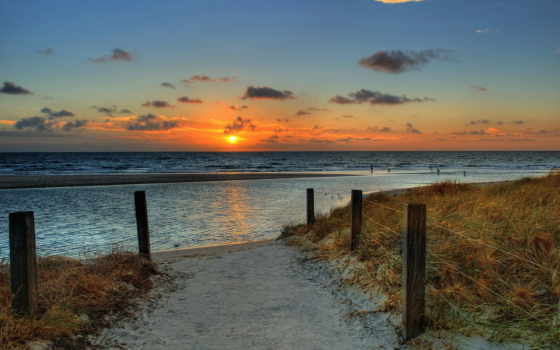 небо, beach, sunset, nature, sea, sand, солнце, пейзаж, clouds,