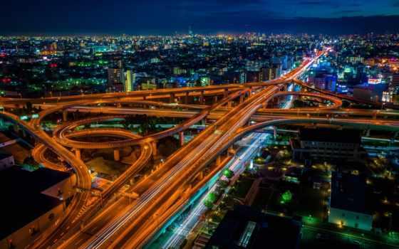 город, japanese, японии, города, осака, ночь, страница, possible,
