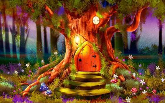 дерево, магия, magical, лес, дверь, fantasy, this, art, pinterest,