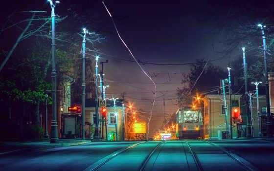 дороги, вечер, russian, москва, города, россия, дома, железные,