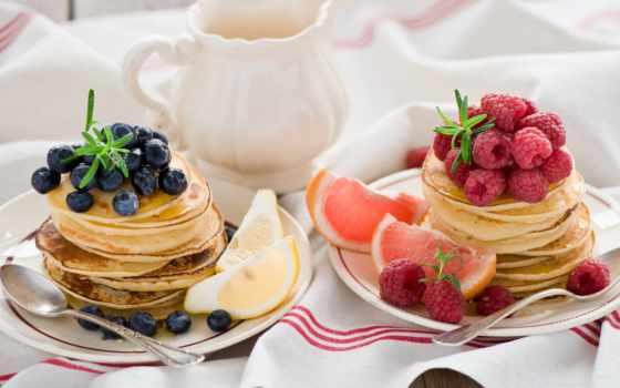 еда, бесплатные, малина, красивые, черника, блины, фотографий, натюрморт, фрукты, клубника, диета,