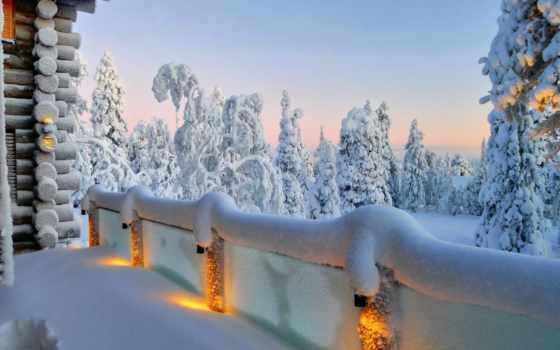 winter, красивый, природа, палуба, фото, landscape, место, магия, снег