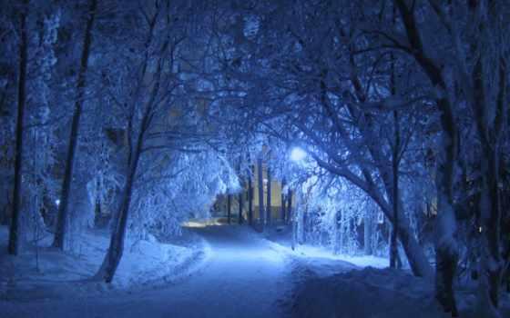 ночь, winter, день