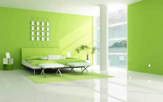 green, design, bedroom, decoration, ideas,