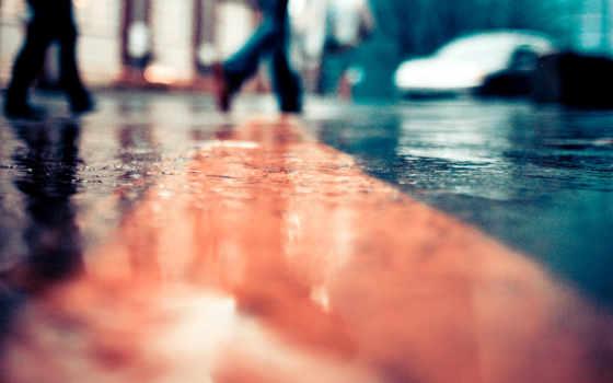 город, улица, дождь, дорога, лужи, rainy, день, девушка, building,