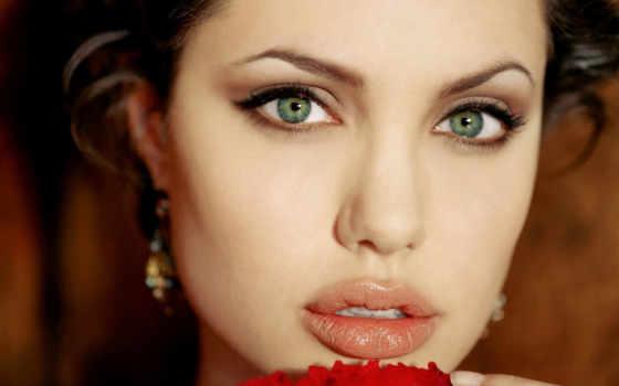 макияж, глаз, зелёных, серо, голубых,