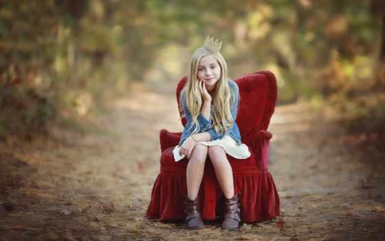 , принцесса, кресло,