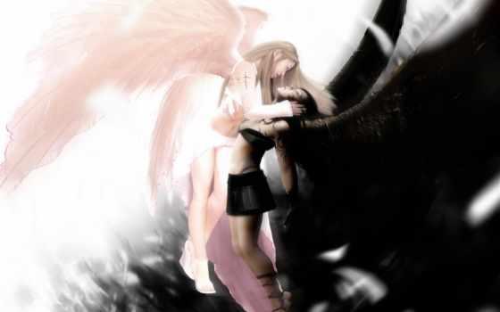 angel, white, белого, ангелов, чёрного, black, дуэт, банка,